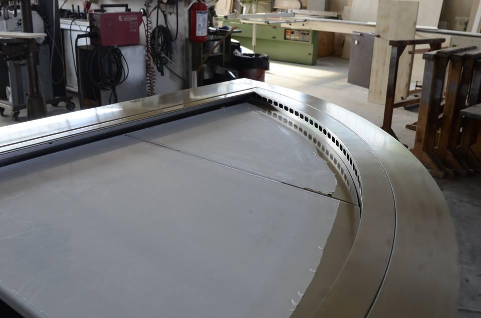 Vetrina refrigerata in acciaio inox per Pasticceria - Torino